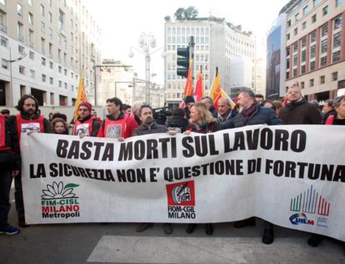 Basta morti sul lavoro! Grasso in piazza con i lavoratori a Milano