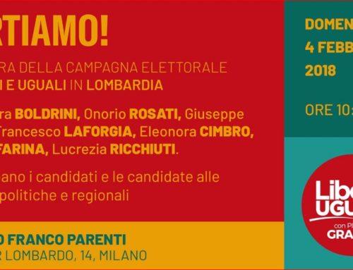 Lombardia: comincia la campagna elettorale di Liberi e Uguali
