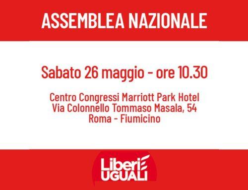 Assemblea Nazionale il 26 maggio a Roma
