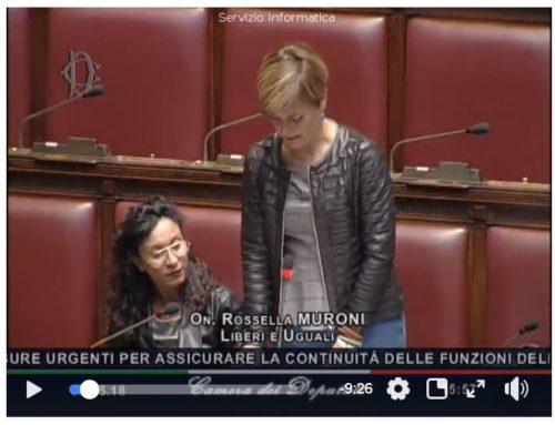 Fiducia governo Conte. Camera discussione in aula l'intervento di Rossella Muroni